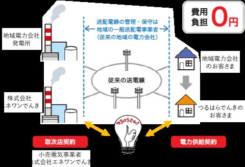 (従来の地域の電力会社)