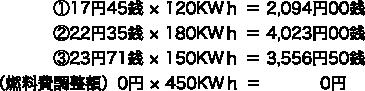 電力量料金